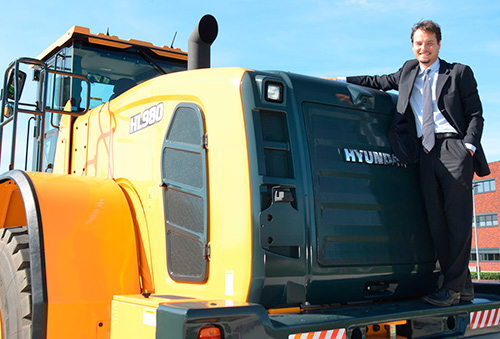 Luca Bellini, gestor de cuentas para el sur de Europa de Hyundai Construction Equipment Europe