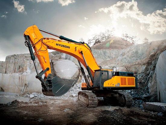 La poderosa excavadora HX900 L de Hyundai