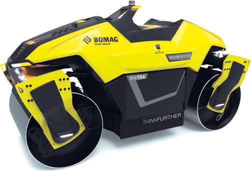 Robomag, rodillo tándem automático de Bomag
