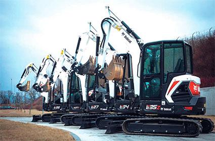 Bobcat es líder en España en el segmento de excavadoras de cadenas de menos de 6 toneladas