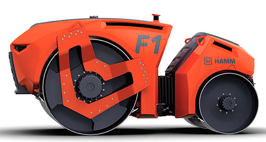 Premios al futurista Rodillo Autónomo F1 de Hamm