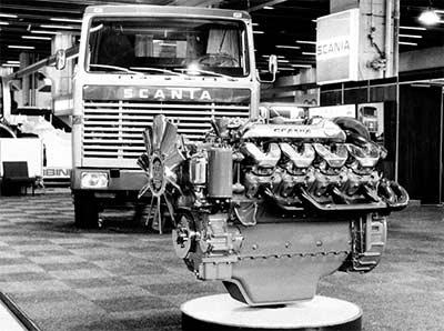 Scania celebra el 50º aniversario del legendario y potente motor V8