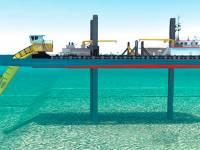 Dragas retroexcavadoras para trabajos subacuáticos